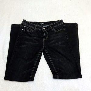 WHBM Black Boot Leg Jeans size 6 regular